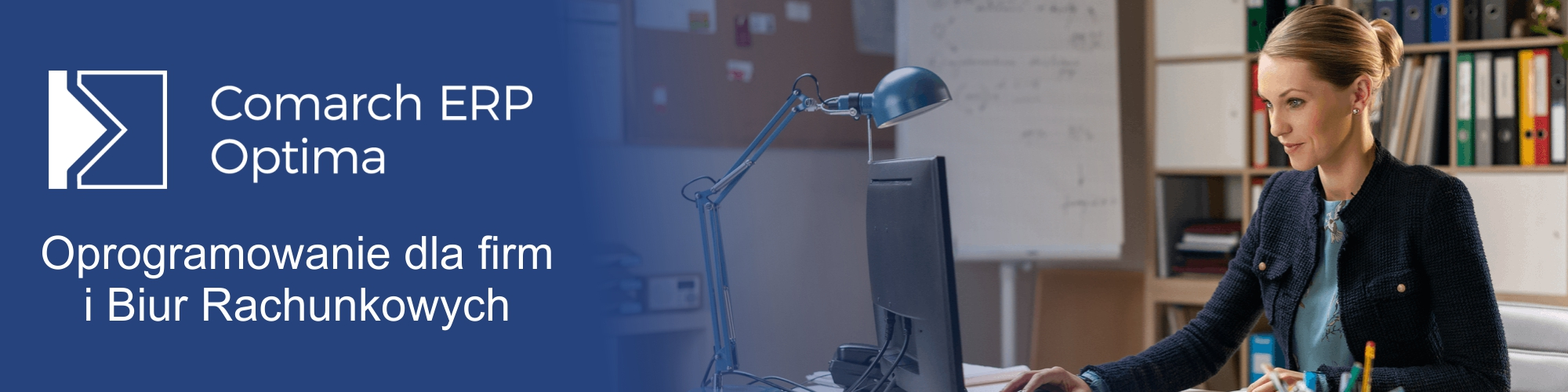 Baner Comarch Optima dla firm i biur rachunkowych