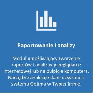 moduł raportowanie i analizy