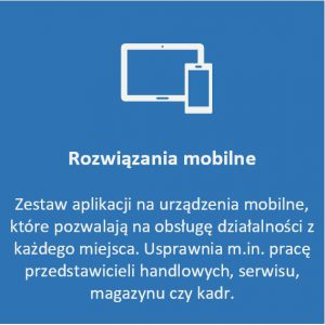 Kafel rozwiązania mobilne - zestaw aplikacji na urządzenia mobilne