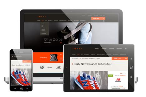 Mockup Comarch e-sklep na laptopie, tablecie, smartphonie